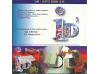 UK - INFO DISK 2.0 FULLY SEARCHABLE NAME, ADDRESS AND PHONE INFORMATION
