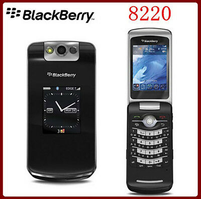 Black Original (Unlocked) Blackberry Pearl 8220 Flip Mobile Phone 2G Cellphone