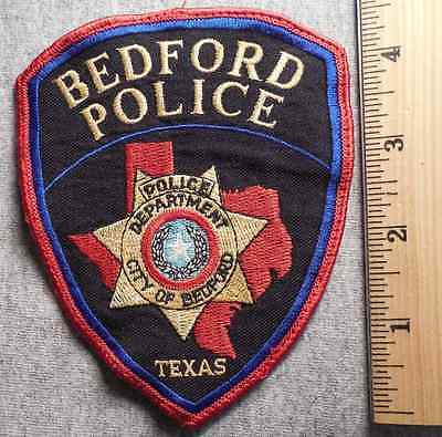 BEDFORD TEXAS POLICE PATCH (HIGHWAY PATROL, SHERIFF, EMS, STATE)