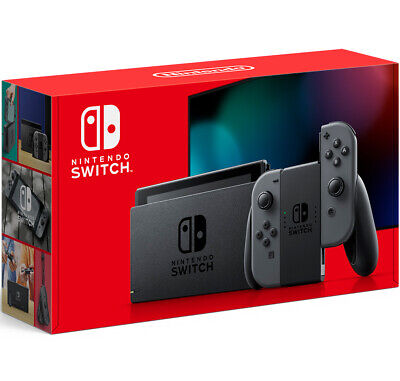 Nintendo Switch with Gray Joy-Con 32GB Console (New V2 2020) Factory Sealed Box