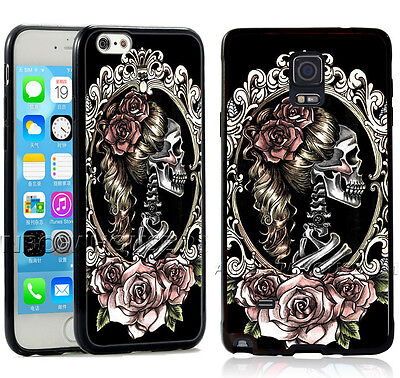 Day Of The Dead Sugar Skull Girl Rose Tattoo Phone Case For iPhone Samsung Cover