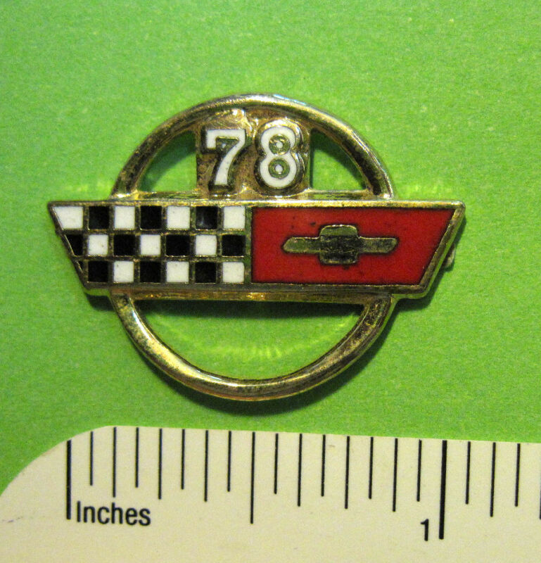 78 - 99 C 4 , C4 , C-4  CORVETTE logo - hat pin , lapel pin , tie tac GIFT BOXED