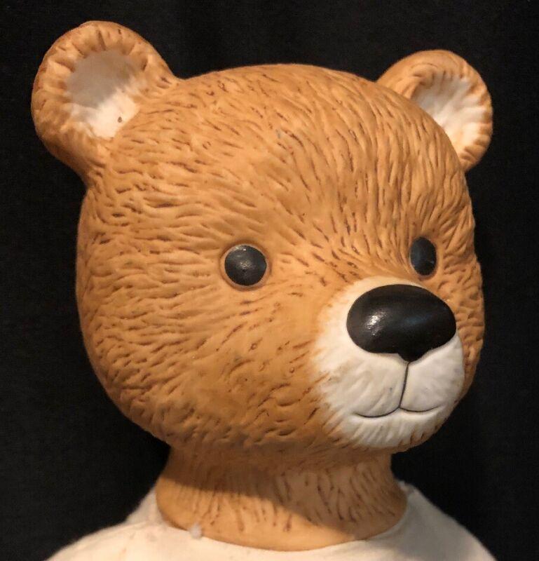 "14"" SCHMID (?) Porcelain Bear Doll No Clothes"