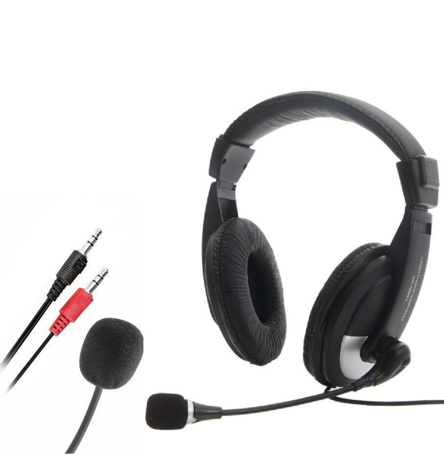 Theo&Cleo Black Hands Free Overhead VOIP Skype Headset With