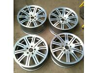"Set of genuine Bmw staggered 19"" m3 alloys no tyres"