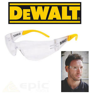 DeWalt Protector Clear UV Sun Protection Safety Glasses For Men & Woman DPG54-1D
