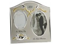 50th Wedding Anniversary photo frame gift