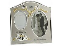 50th Wedding Anniversary photo frame gift
