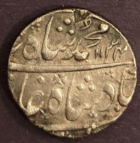 India - Mughal, Muhammad Shah, Rupee, KM# 436.3, Akbarabad, Year 4, AH 1134, XF,