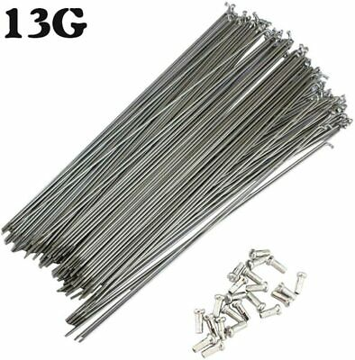 2x STAINLESS STEEL STANDARD REPLACEMENT BICYCLE WHEEL SPOKES 292mm BIKE SILVER