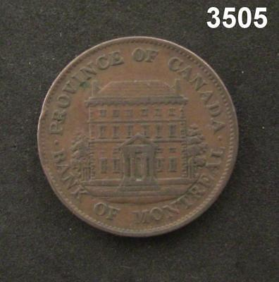 1842 Bank Of Montreal Half Penny Token Au   3505