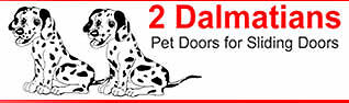 2 Dalmatians Pet Door Inserts