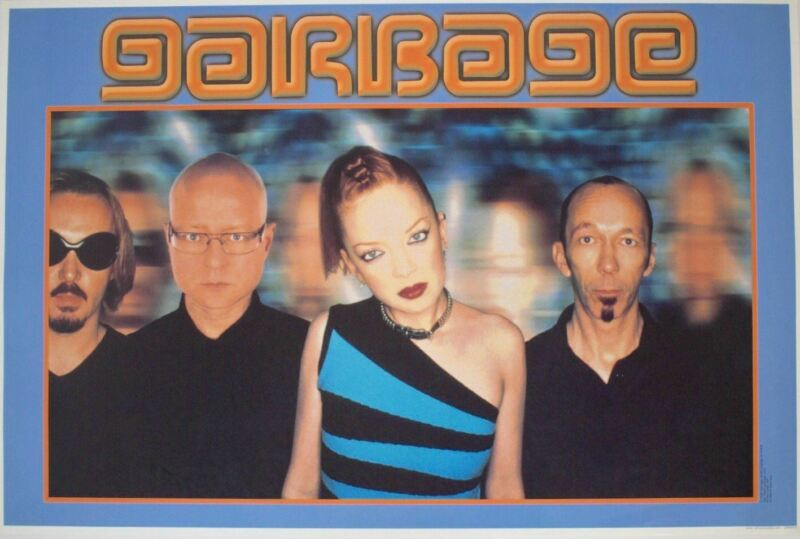 Garbage Rare Vintage 1999 German Import Band Shot Poster 24.5 x 36.5
