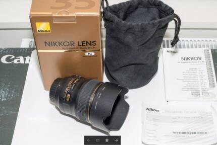 Mint Nikon AF-S NIKKOR 35mm f1.4G Lens