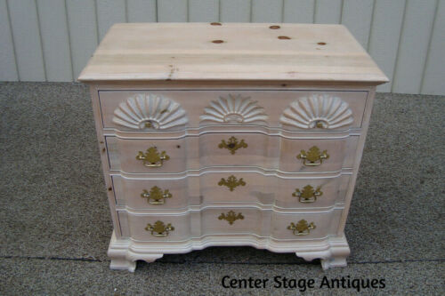 59820  Pine White Wash Factory Finish Bachelor Chest Dresser Stand Nightstand