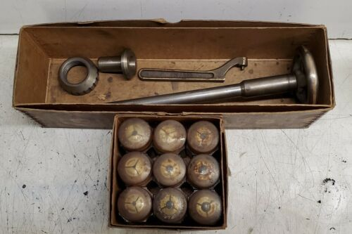 "South Bend 9"" Lathe Collet Closer w/ 3C Collets, Original Boxes"