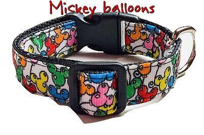 Balloons Dog Collar Collars (Mickey Balloons Dog collar handmade adjustable buckle collar 5/8