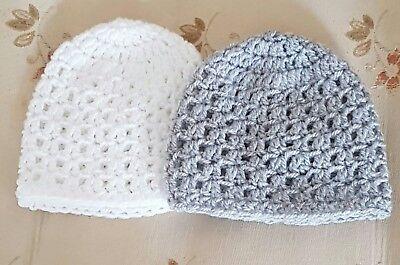 Pack of 2 crochet  baby Hats  in premature