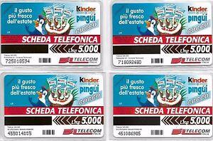 *@ RRR serie completa KINDER PINGUI' n. 1010 / 1013 - NUOVA @* - Italia - *@ RRR serie completa KINDER PINGUI' n. 1010 / 1013 - NUOVA @* - Italia