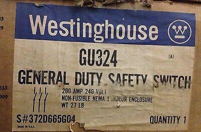 Westinghouse Gu324 3 Pole 200 Amp 240 Volt Non-fused Nema 1 Disconnect New