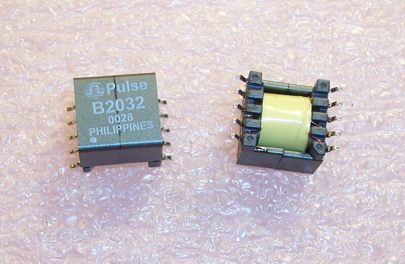 QTY (20) B2032 PULSE ENGINEERING 18uH ADSL LINE TRANSFORMERS