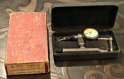 Machinist Tool Starrett No. 711-f Last Word Dial Test Indicator Case Box Lever