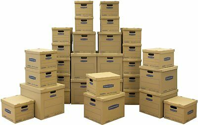 Bankers Box Smoothmove Classic Moving Boxes 30 Pc. Value Set Small Med Large