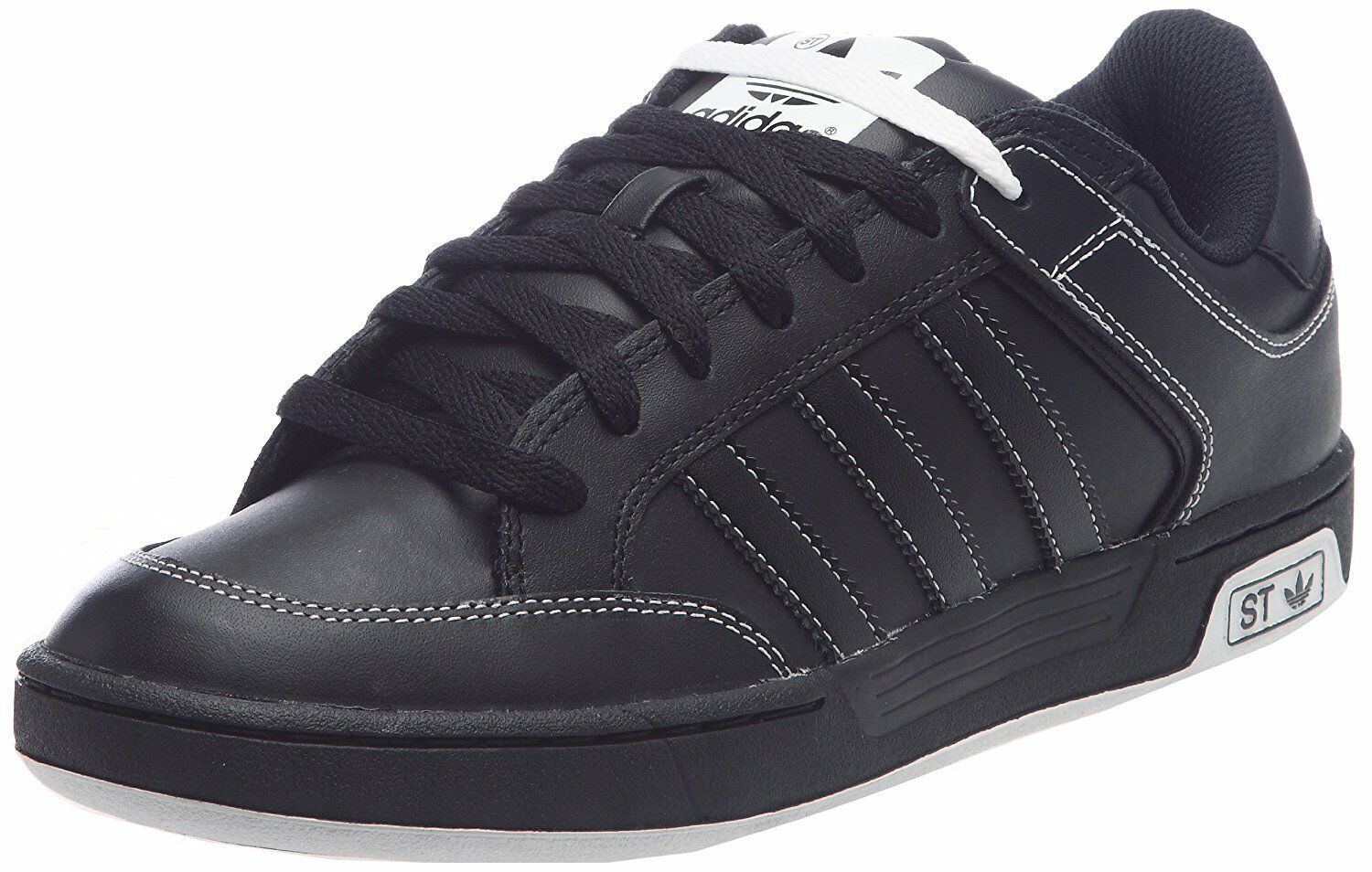 the best attitude d3afa 932aa Adidas Varial ST Black Mens Boys Casual Low Lace Up Fashion Trainers Shoes  UK4.5