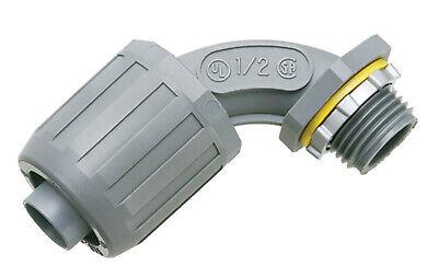 Arlington Industries 12 Gray Non-metallic Snap2it Liquid-tight Push-on 90