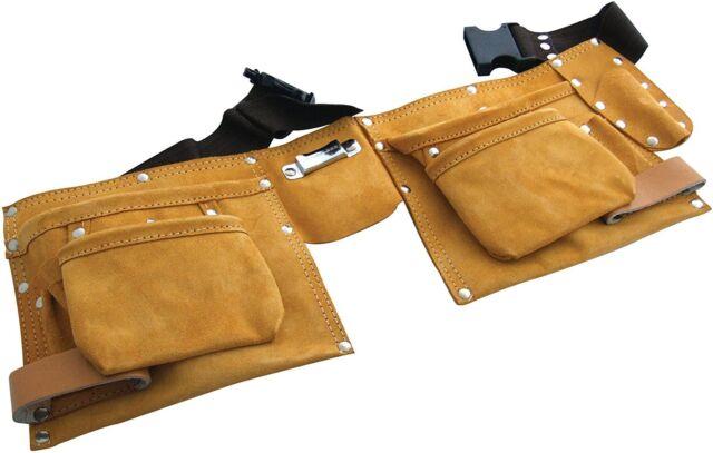 11 Pocket Tool Belt - Brand New Heavy Leather Tool Belt DIY Tool Pouch Hammer