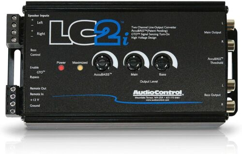 Brand New AudioControl LC2i Black 2 Channel Line-Output Converter with AccuBASS