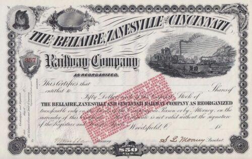 Bellaire Zanesville & Cincinnati Railroad Company 1800