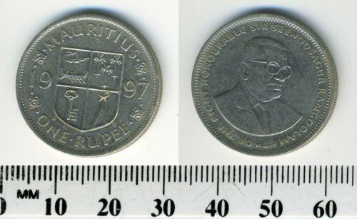 Mauritius 1997 - 1 Rupee Copper-Nickel Coin - Sir Seewoosagur Ramgoolam