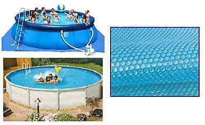 8ft Diameter Blue 200 Micron Swimming Pool Solar Cover Bubble Covers