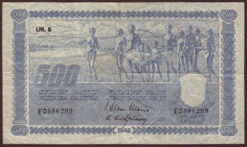 FINLAND  500 Markkaa  1945   Litt. B