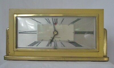 Vintage Seth Thomas Baxter-E Shelf Mantel Desk Electric Clock Works Made in USA