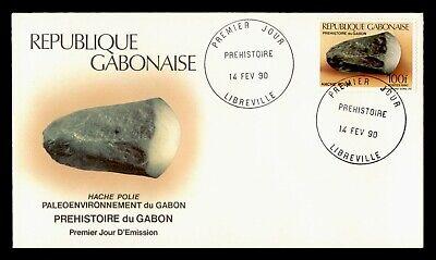 DR WHO 1990 GABON FDC PREHISTORIC TOOLS HAND AXE  C243327