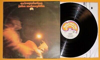 Rare jazz fusion lp JOHN MCLAUGHLIN Extrapolation UK Marmalade 608007 TOP COPY j