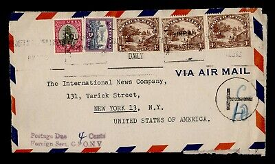 DR WHO SOUTH AFRICA SLOGAN CANCEL AIRMAIL TO USA POSTAGE DUE  g17921