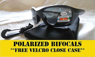 Bifocal Sunglasses Polarized- Fishing, Driving, Golf Smoke Free Case