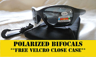 Bifocal Sunglasses Polarized- Fishing, Driving, Golf Smoke Free Case