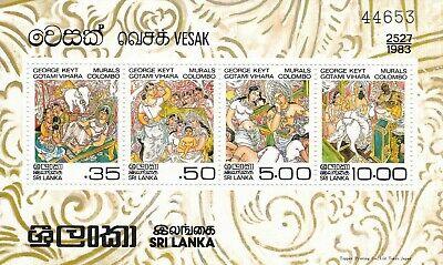 Sri Lanka 1983 Vesak Miniature Sheet MNH