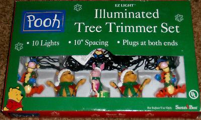 Disney~Winnie The Pooh Christmas Tree Trimmer Light Set~Santa's Best~NIB