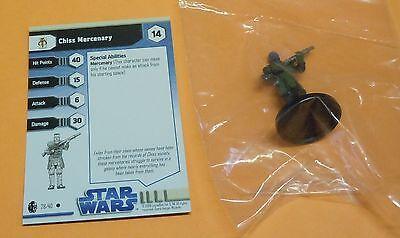 Star Wars Miniatures Imperial Entanglements Chiss Mercenary #28/40 NEW NIB SWM