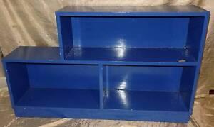 Retro Blue Stepped Shelves Bookshelf Bookcase Windsor Hawkesbury Area Preview