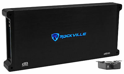 Rockville dB16 8000 Watt/4000w RMS Mono Class D 2 Ohm Amplifier Car Audio Amp