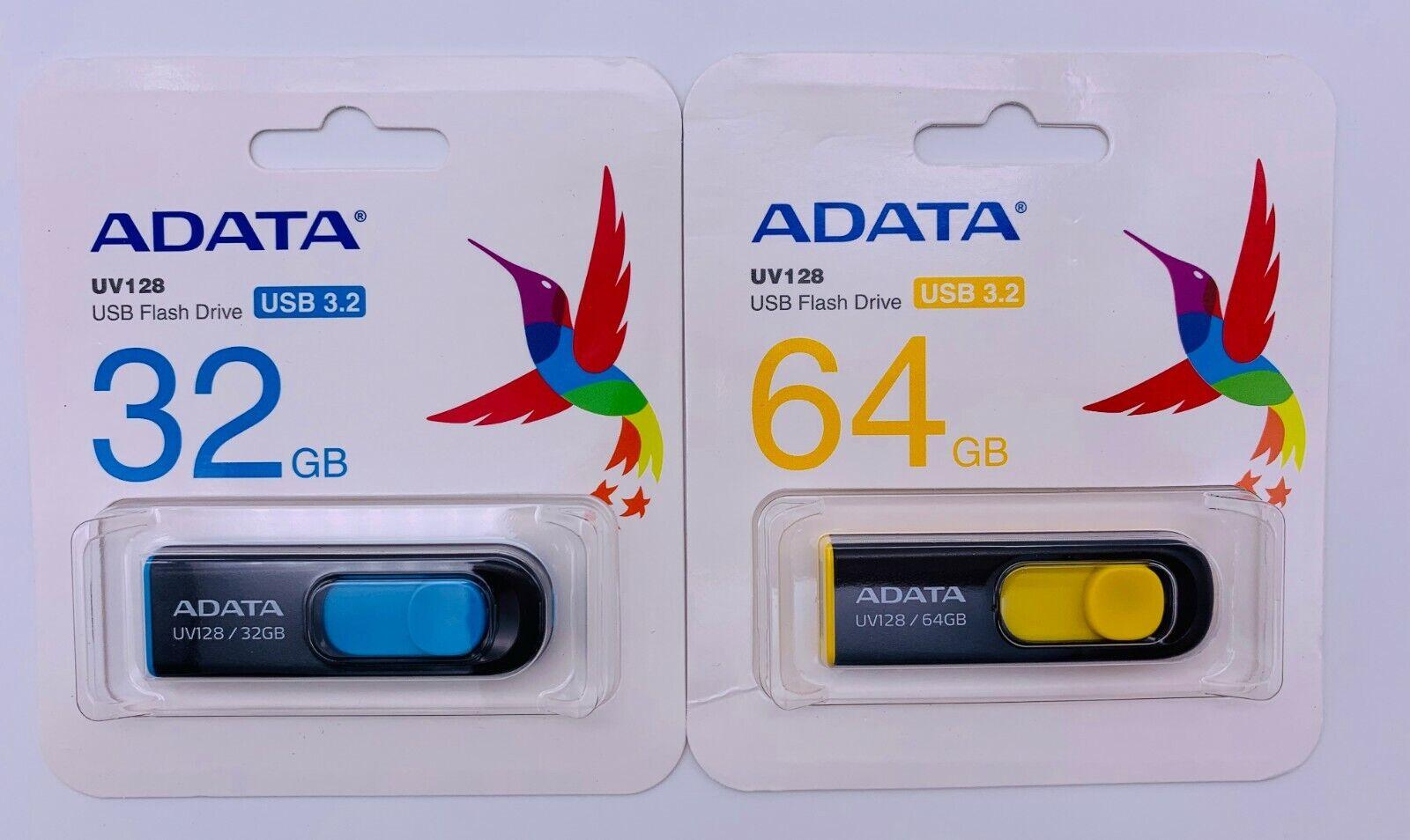 ADATA USB Flash Drive UV128 USB 3.2 3.0 2.0 Thumb Stick Pen
