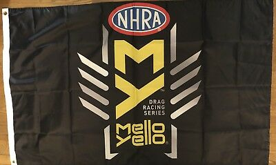 Drag Nhra Racing - NHRA Drag Racing Flag 3x5 Mellow Yellow Series Banner Man cave Garage