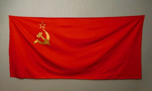 Original Soviet Union Red Flag of the  USSR Communist  made in USSR 70s