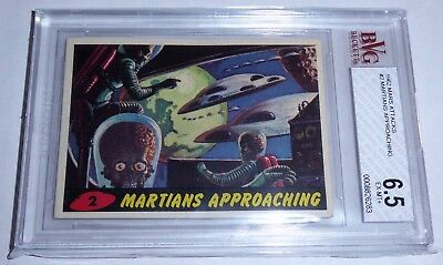 1962 Mars Attacks Topps Martians Approaching #2 BVG 6.5 Like PSA BGS Horror UFO